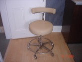 Dentist stool after re-upholstery service