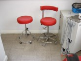 Dentist stools after re-upholstery service